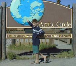 Sign at Arctic Circle