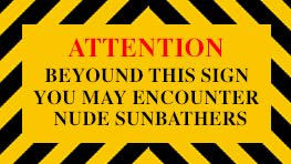 Sunbather Sign